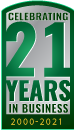 Celebrating 21 Years in Business