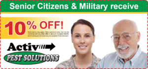 Pest Control Discounts for Seniors and Military