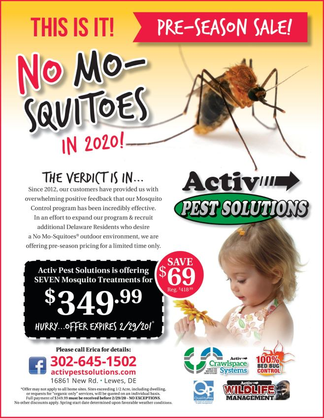 NoMo-squito discount flyer valid until February 29, 2020