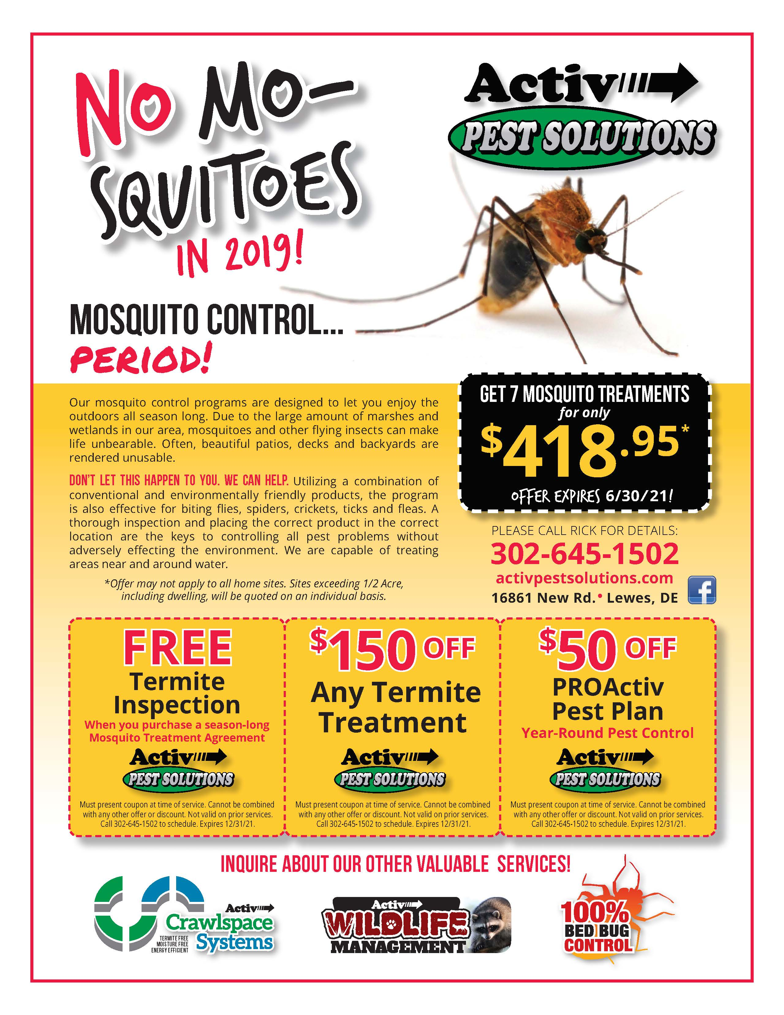NoMo-squito discount flyer valid until June 30, 2020